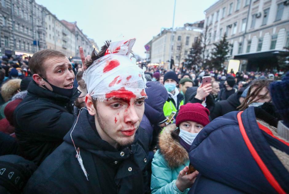 Московский митинг в поддержку Навального: фоторепортаж