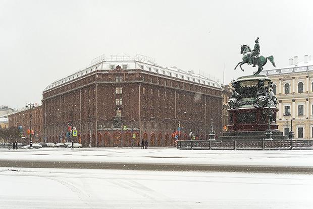 Центр Петербурга утром 1 января