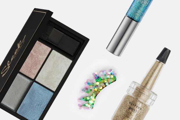 Блестки, наклейки и русалочьи ресницы дляпраздничного макияжа