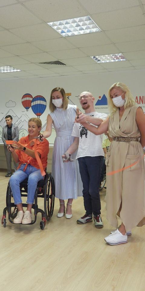 На «Бауманской» открылся коворкинг для людей синвалидностью