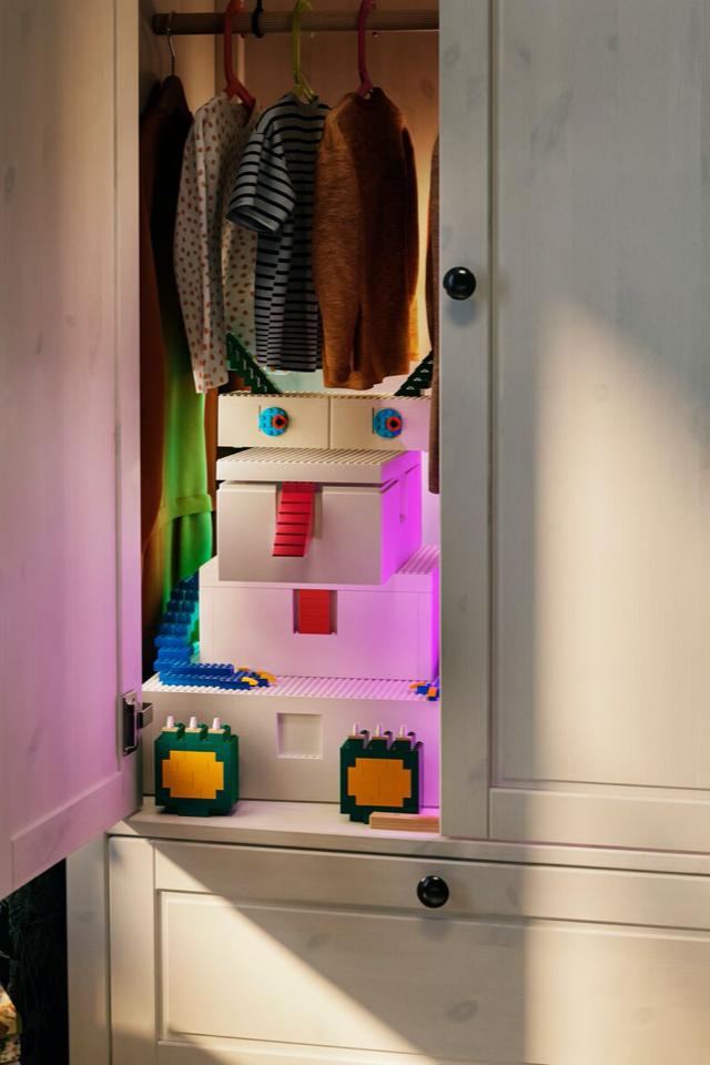 IKEA и LEGO выпустили конструктор иящики для хранения деталей
