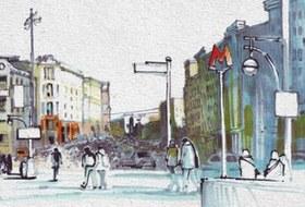 Выставка «Москва вэскизах LAM Sketching Club» впарке «Музеон»