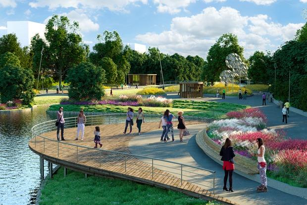 Как будет выглядеть новый парк вСеверном Бутове