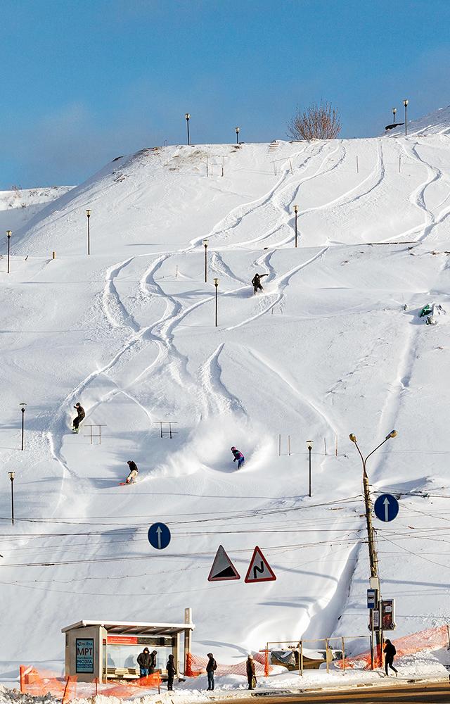 Я прокатился по Нижнему Новгороду на сноуборде