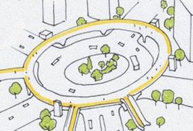 Идеи для города: Круглый пешеходный мост в Шанхае