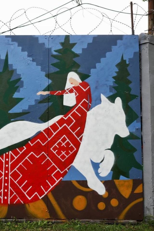 «Размышления о политических событиях последних месяцев»: Роспись «Сказка» от арт-группы «Явь»