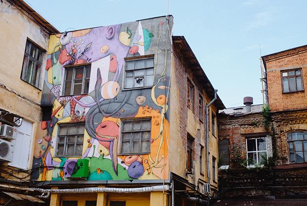 Работы фестиваля уличного искусства «Место»