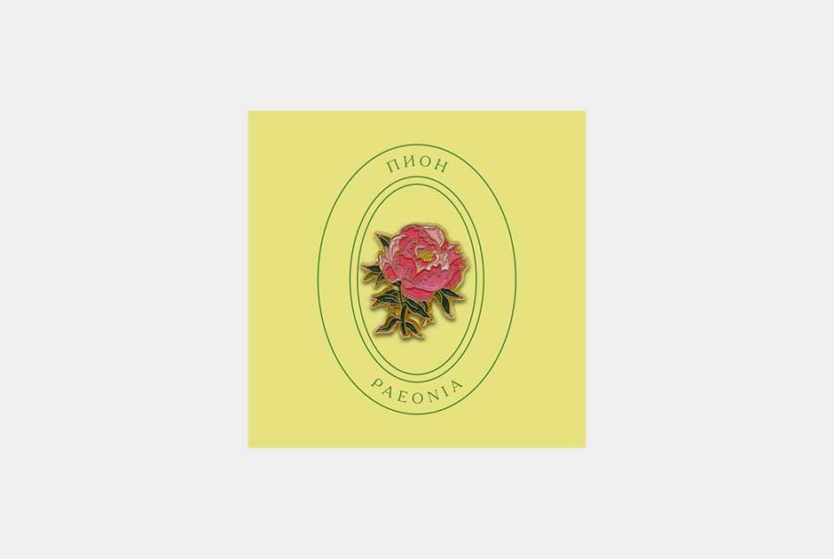 Любимые цветы москвичей назначках Heart ofMoscow