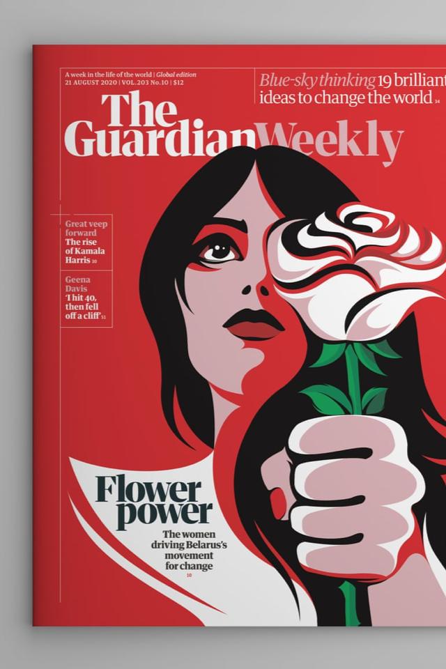 Женщина, которая ведет Беларусь кпеременам, наобложке The Guardian Weekly