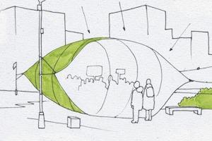 Идеи для города: Пузырь для митингов в плохую погоду