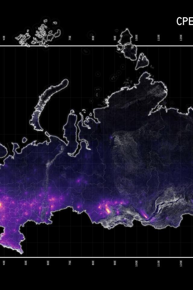 Карта загрязнения российских городов диоксидом азота (Москва лидирует)
