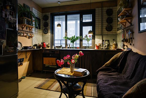 Однокомнатная квартира в стиле бохо своими руками