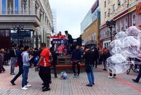 Как ведут себя фанаты из Уругвая и Египта на улицах Екатеринбурга