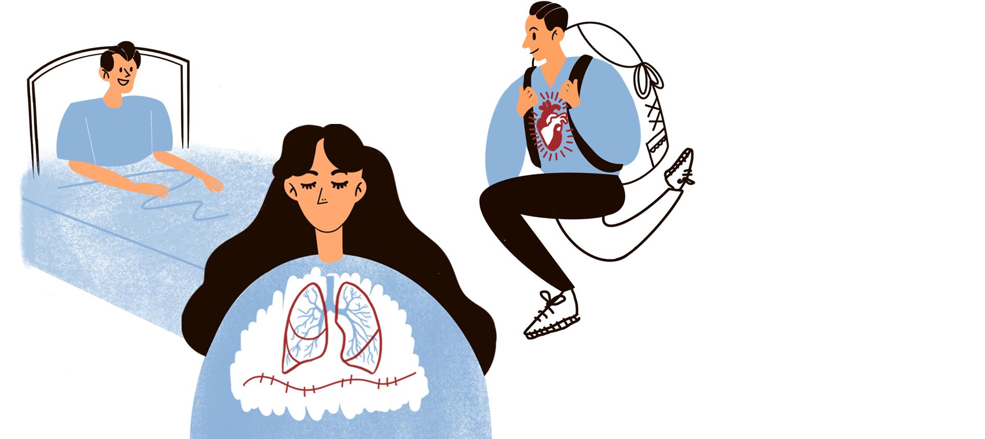 Люди счужими органами