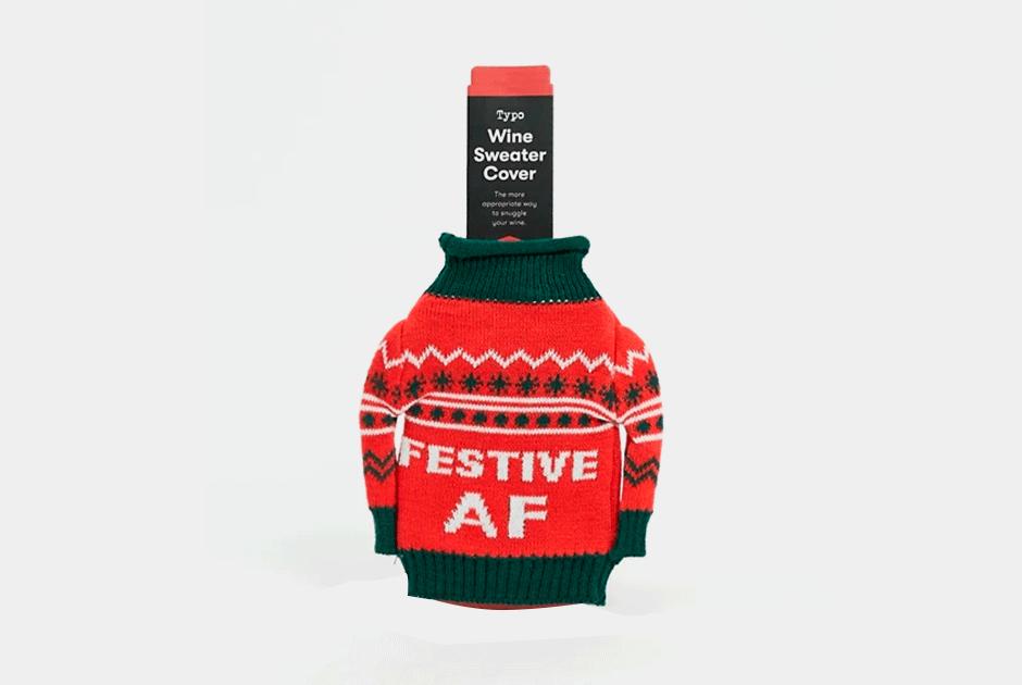 Новогодний свитер для бутылки вина. Другого от2020года мыуже неждем