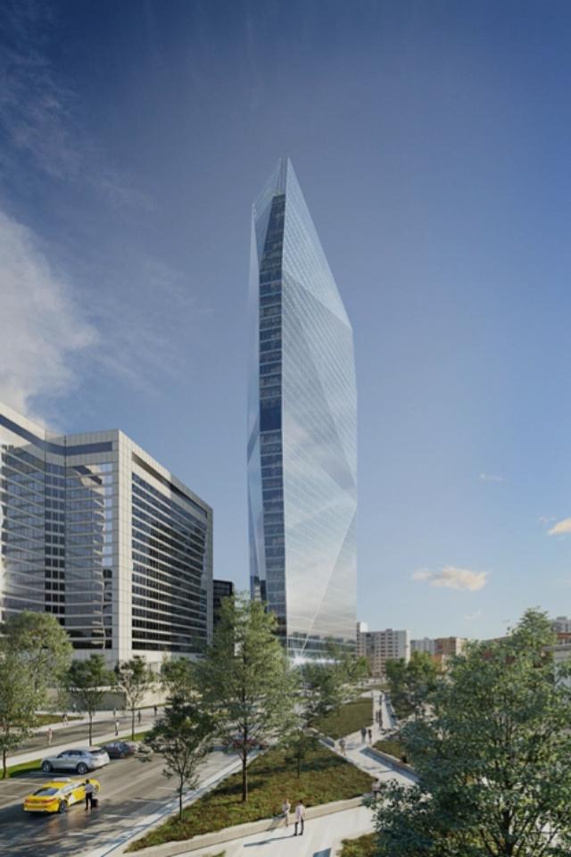 Как будет выглядеть башня-«кристалл» наКраснопресненской набережной