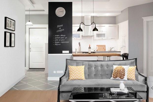 Квартира впослевоенном стиле для молодой семьи