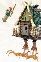 Поддержка идеи конструктора Lego сБабой-ягой иизбушкой накурьих ножках
