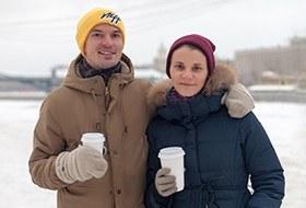 Фоторепортаж: Уличная еда взимней Москве
