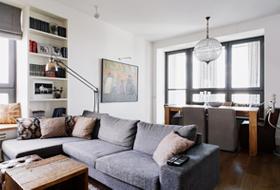 Четырёкомнатная квартира в американском стиле для семьи сдвумя детьми