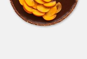 Шоколадно-сырный тарт схурмой